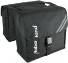 Haberland Doppeltasche Giga DT1701 zum Befestigen auf dem Gepäckträger schwarz
