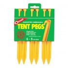 Coghlans Zelthering ABS 15cm, gelb, 6er Pack